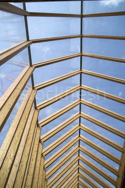 Wooden roof and glass Stock photo © Fotografiche