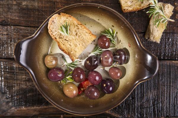 хлеб оливками домашний маслины продовольствие Сток-фото © Fotografiche