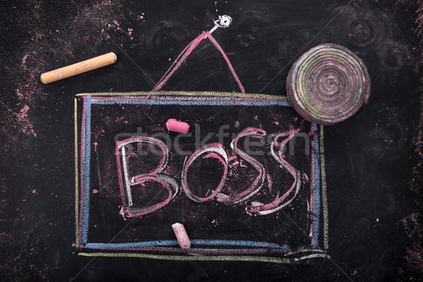 комнату Boss представитель знак написанный мелом Сток-фото © Fotografiche