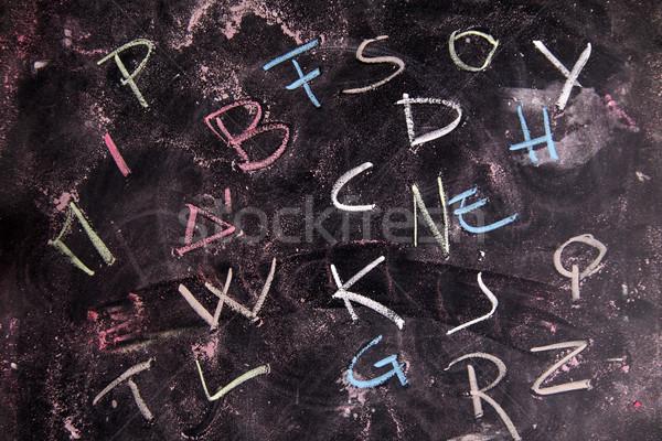 Colored letters Stock photo © Fotografiche