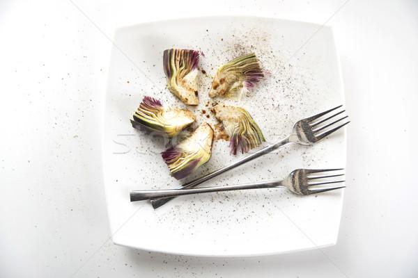 Fraîches plat présentation accompagnement alimentaire vert Photo stock © Fotografiche