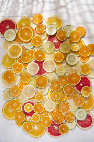 色 柑橘類 果物 ブレンド スライス ストックフォト © Fotografiche