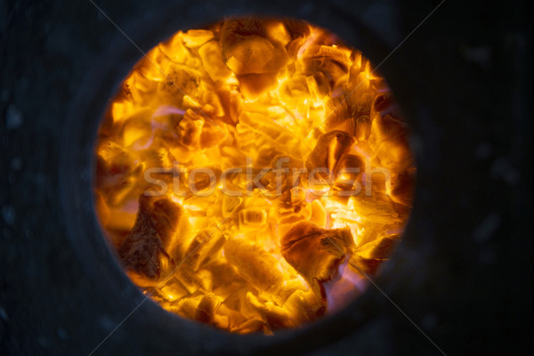 Izzó fa égő tűzhely tűz forró Stock fotó © Fotografiche