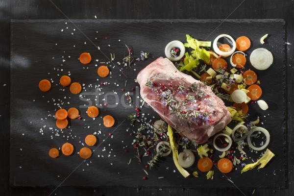 Shin raw pork Stock photo © Fotografiche