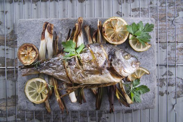 Sea bream baked in the oven Stock photo © Fotografiche