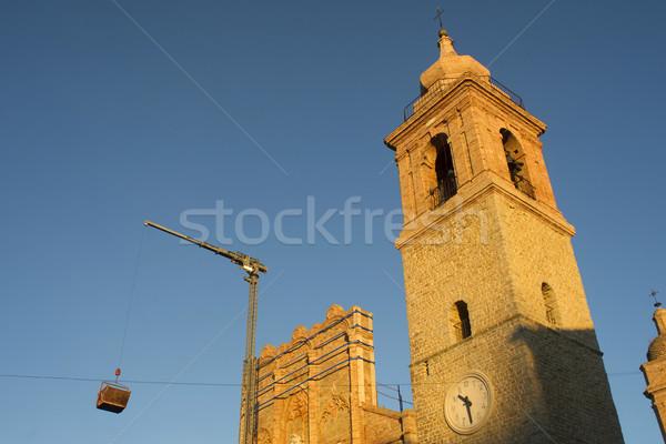 Templom helyreállítás gyógyulás munka földrengés gótikus Stock fotó © Fotografiche