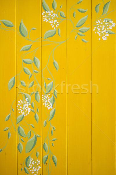 Stok fotoğraf: Dekorasyon · ahşap · masa · küçük · form · renkli · sarmaşık