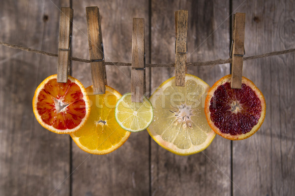 Kleuren citrus fruit presentatie water Stockfoto © Fotografiche