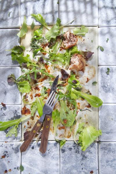 Maradék étel mi befejezés edény zöldségek Stock fotó © Fotografiche