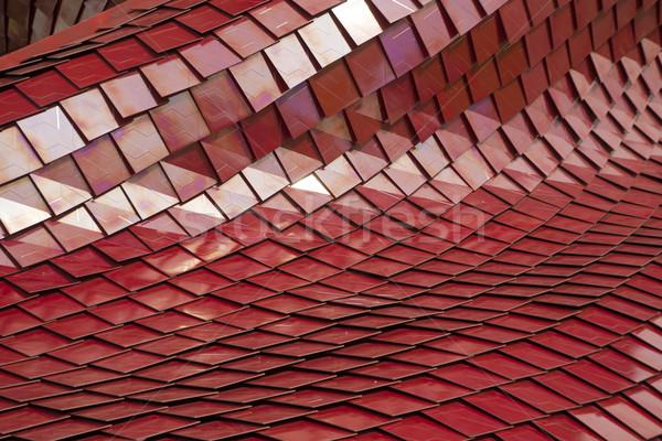 Rouge tuiles bâtiment modernes couleur fond Photo stock © Fotografiche