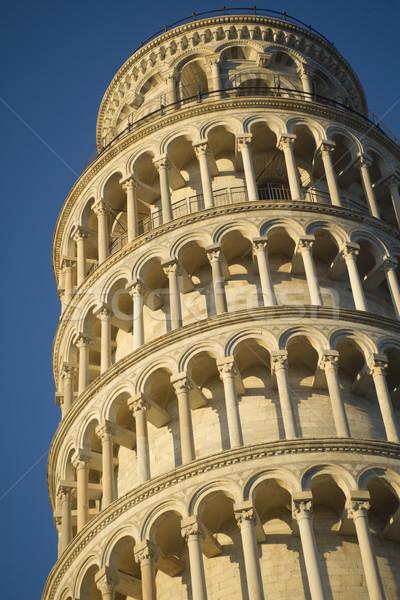 Ayrıntılar kule mimari Toskana İtalya Stok fotoğraf © Fotografiche