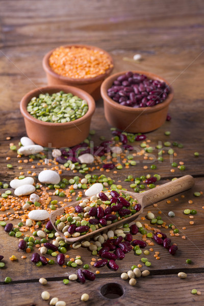Mixed seeds legumes Stock photo © Fotografiche