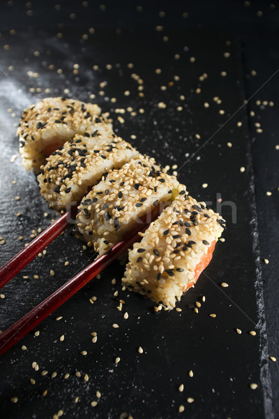 Sushi dish with chopsticks Stock photo © Fotografiche