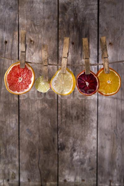 The colors of the dried citrus fruit Stock photo © Fotografiche