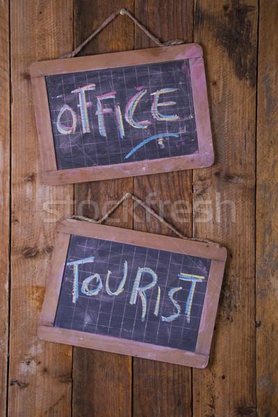 観光 情報 オフィス 標識 にログイン ストックフォト © Fotografiche