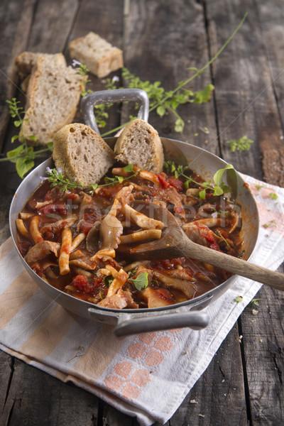 Stewed mushrooms Stock photo © Fotografiche