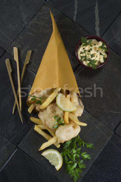 Street food presentatie vis keuken Stockfoto © Fotografiche