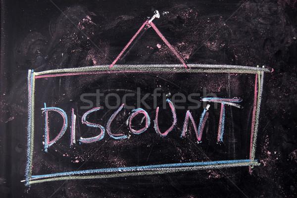 書かれた 黒板 言葉 チョーク ビジネス 背景 ストックフォト © Fotografiche