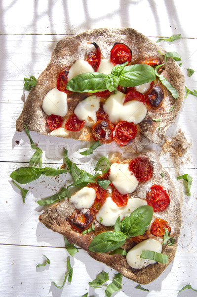 Pizza volkoren meel glucose diner Rood Stockfoto © Fotografiche
