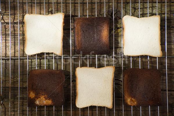 Torrado forno quadro macio fatias pão Foto stock © Fotografiche