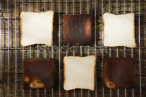 Geroosterd oven frame zachte brood Stockfoto © Fotografiche