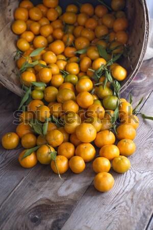 Winter fruit Mandarin Stock photo © Fotografiche