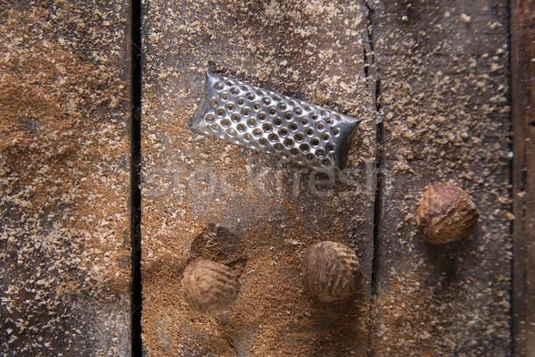 Grated nutmeg  Stock photo © Fotografiche