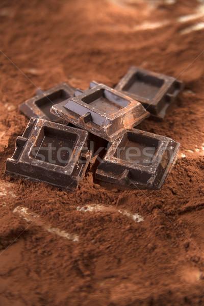 Stockfoto: Pure · chocola · presentatie · bed · voedsel · chocolade