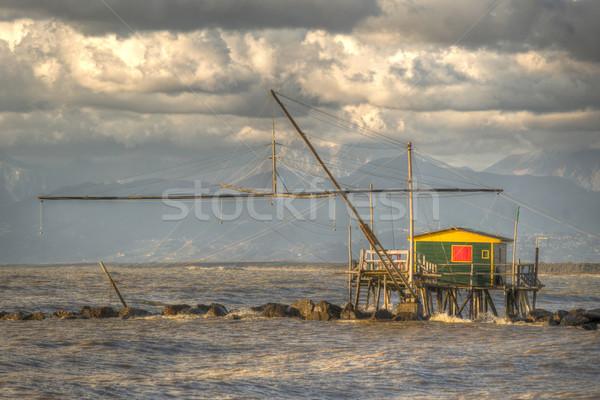Construction for fishing Stock photo © Fotografiche