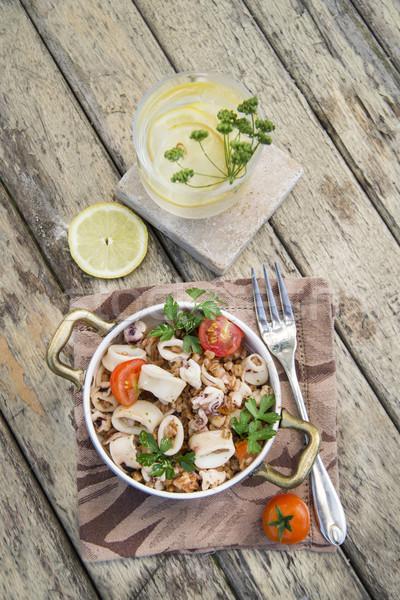 シーフード 伝統的な 皿 トスカーナ 魚 レストラン ストックフォト © Fotografiche
