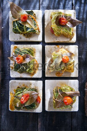 Bundle Of Meat In Cabbage Leaves Stock photo © Fotografiche