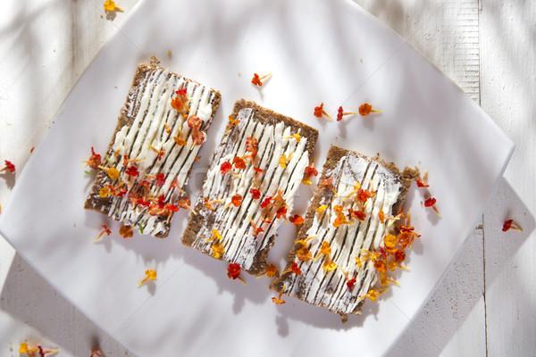 Szendvics kenyér sajt szendvicsek szag tavasz Stock fotó © Fotografiche