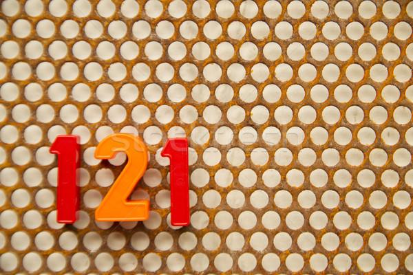 письма номера белый фон почты Дать Сток-фото © Fotografiche