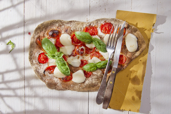Pizza with whole wheat flour Stock photo © Fotografiche