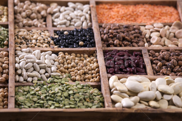 Seeds of legumes mixed Stock photo © Fotografiche