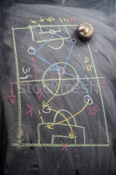 Lesson of football tactics Stock photo © Fotografiche