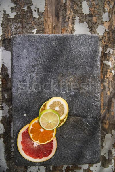Cores cítrico frutas mistura fatias Foto stock © Fotografiche