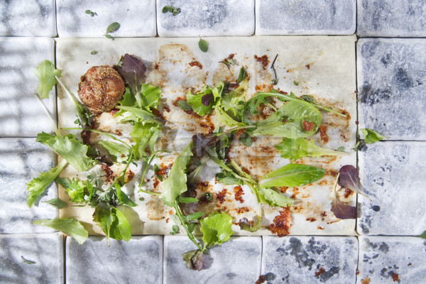 Were leftovers after a meal Stock photo © Fotografiche