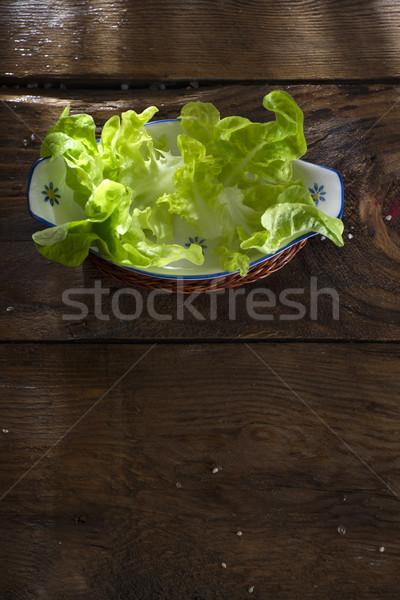 Prato salada apresentação fresco verde acompanhamento Foto stock © Fotografiche