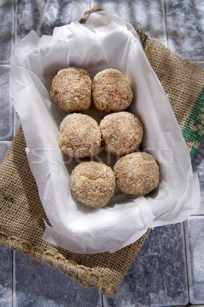 Meatballs raw Stock photo © Fotografiche