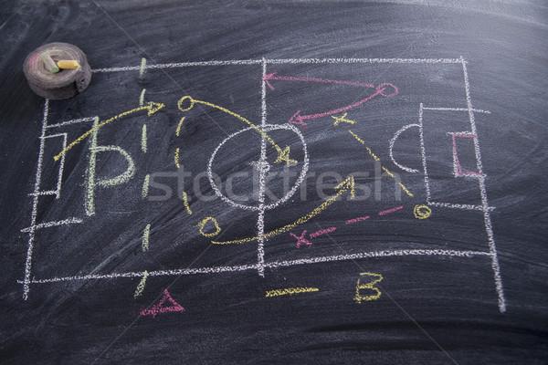 Lezione calcio tattica modelli gesso Foto d'archivio © Fotografiche
