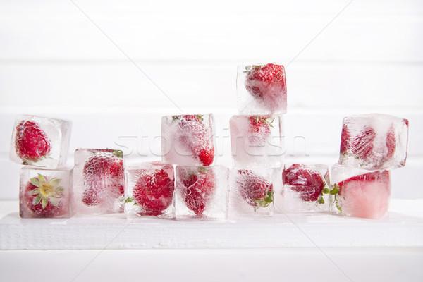 çilek tanıtım su gıda meyve Stok fotoğraf © Fotografiche