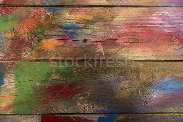 Madera mixto colores resumen Foto stock © Fotografiche