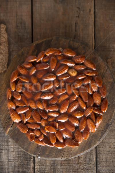 Ropogós mandulák tipikus hagyományos édes olvadt Stock fotó © Fotografiche