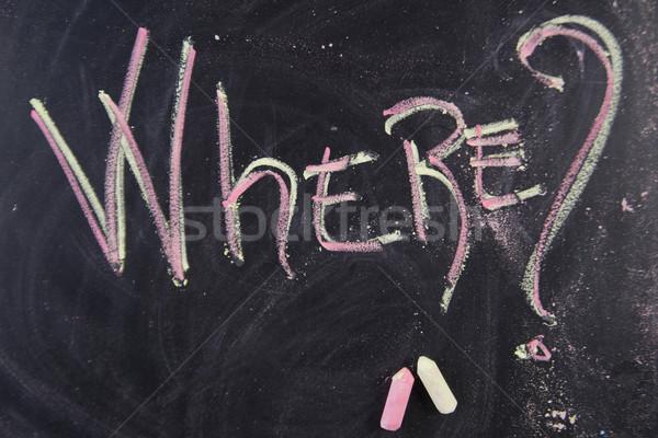 écrit mot écrit craie tableau noir graphique Photo stock © Fotografiche