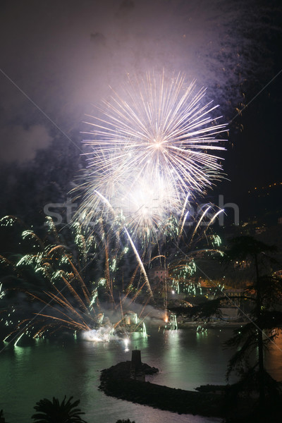 Feux d'artifice Italie événement fin été fête Photo stock © Fotografiche