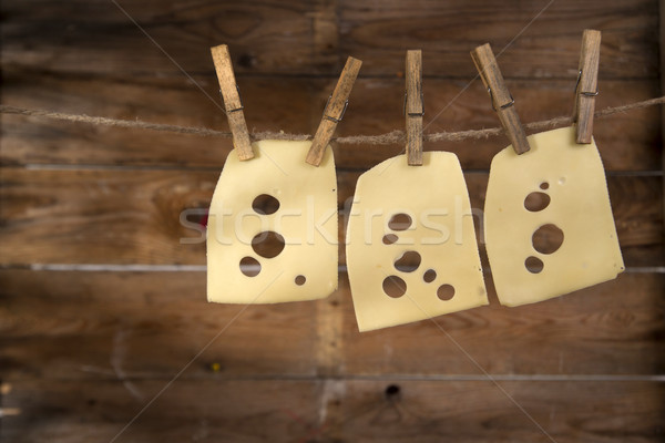 Slices of Emmental Stock photo © Fotografiche