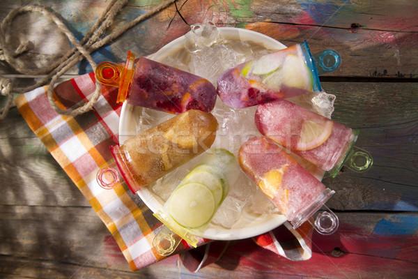 Jégcsap citrus hideg el nyár törik Stock fotó © Fotografiche