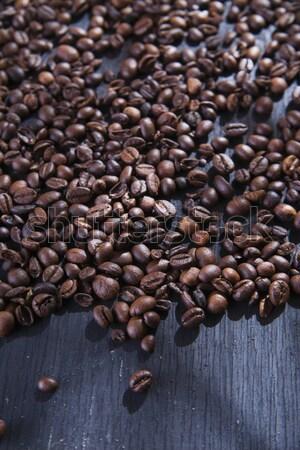コーヒー豆 プレゼンテーション 表 黒 テクスチャ 食品 ストックフォト © Fotografiche
