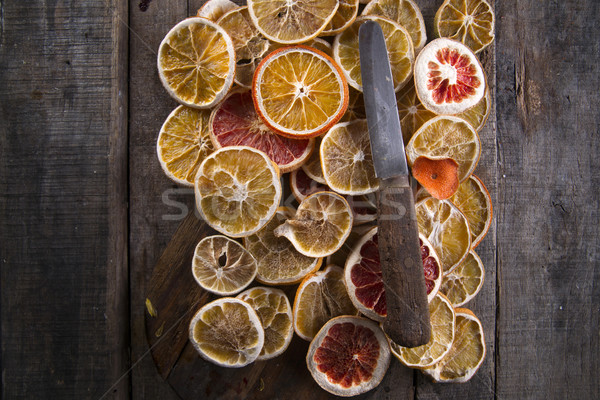 Slices of dried citrus Stock photo © Fotografiche